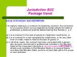 jurisdiction b2c package travel