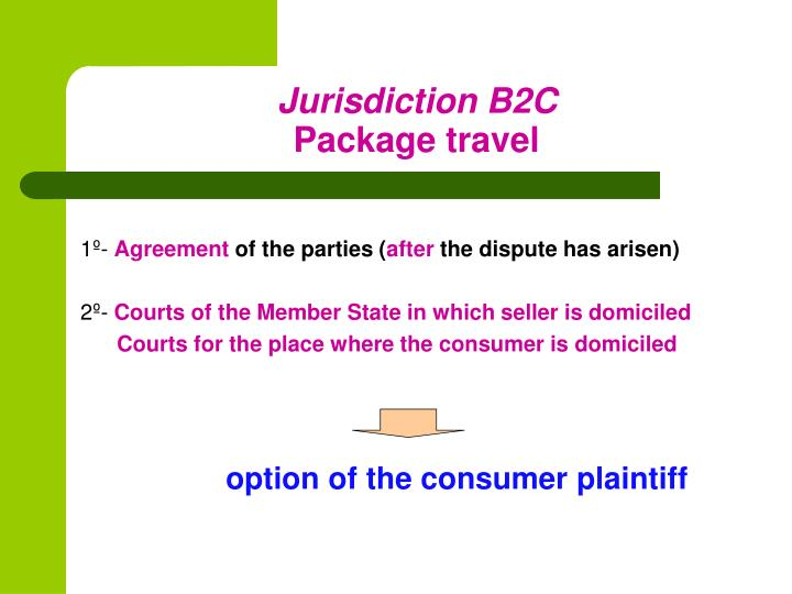 Jurisdiction B2C