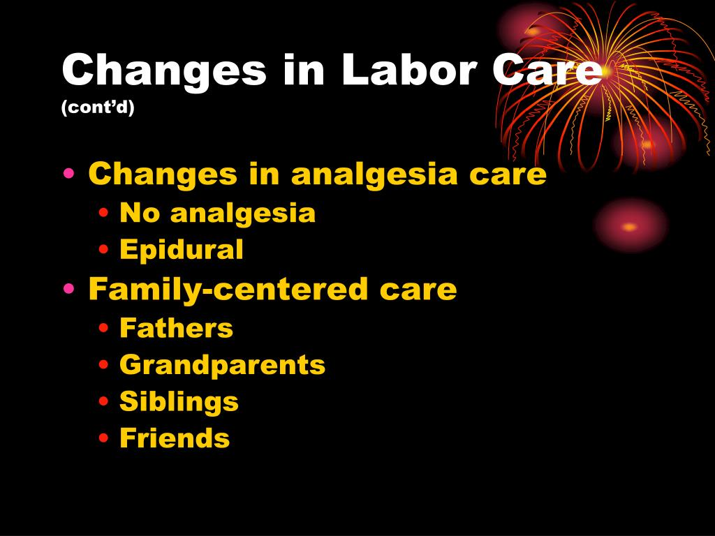 Changes in Labor Care
