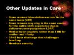 other updates in care