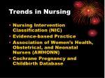 trends in nursing