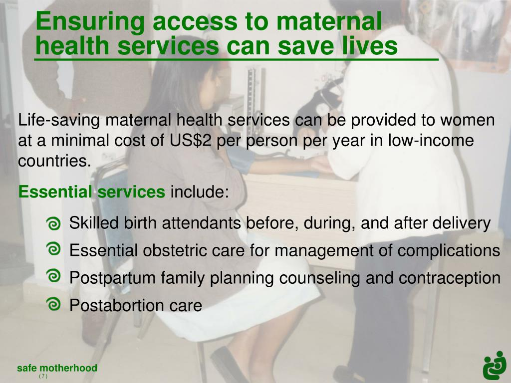 Ensuring access to maternal health services can save lives