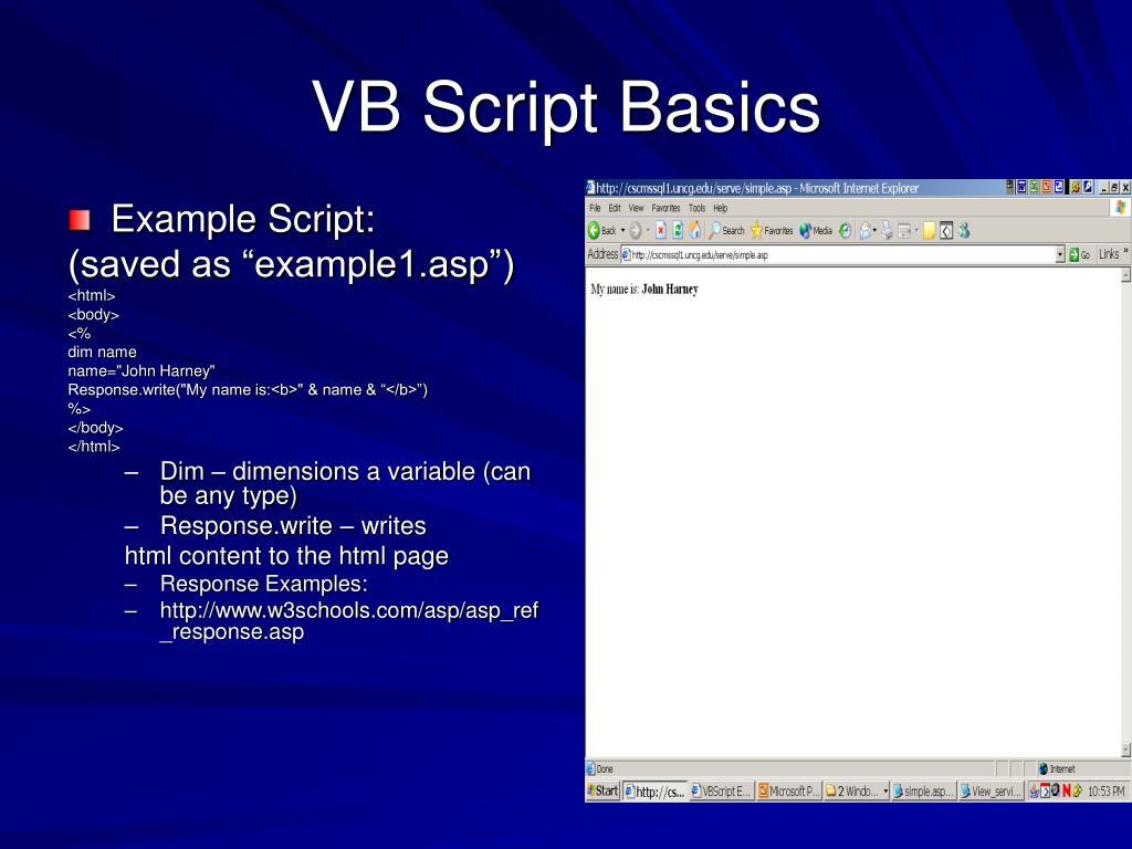 VB Script Basics