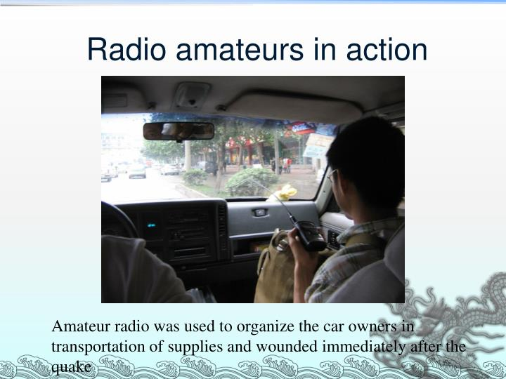 Radio amateurs in action