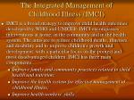 the integrated management of childhood illness imci