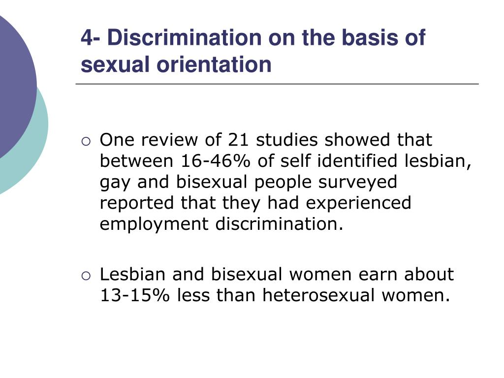 4- Discrimination on the basis of sexual orientation