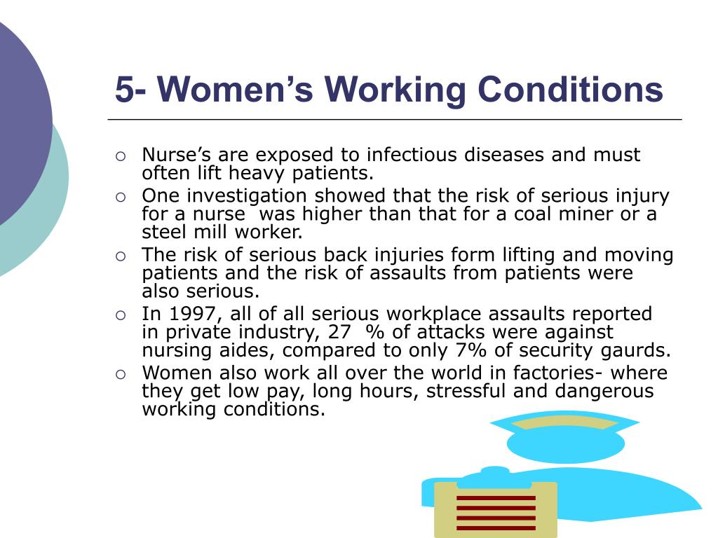 5- Women's Working Conditions