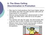 6 the glass ceiling discrimination in promotion