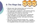 8 the wage gap