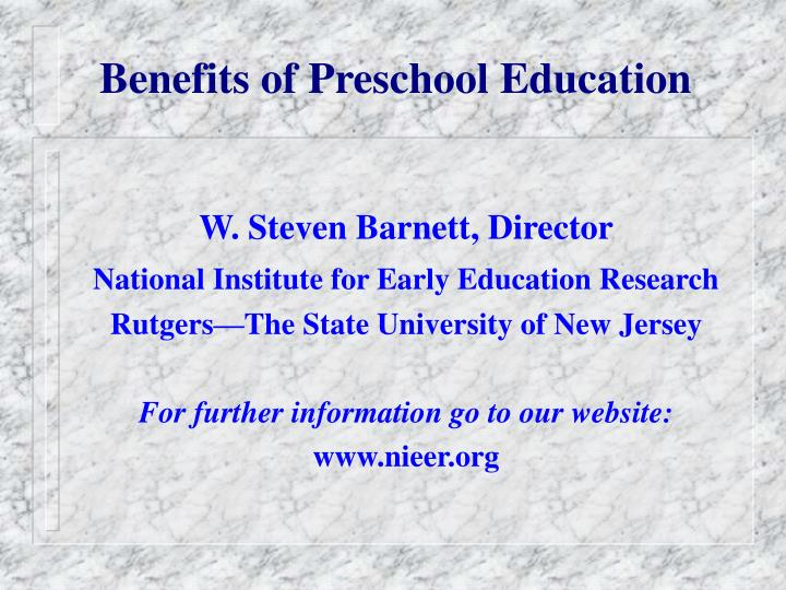 Benefits of preschool education
