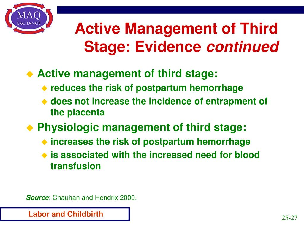 Active Management of Third Stage: Evidence