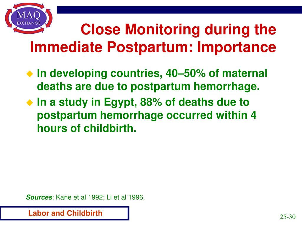 Close Monitoring during the