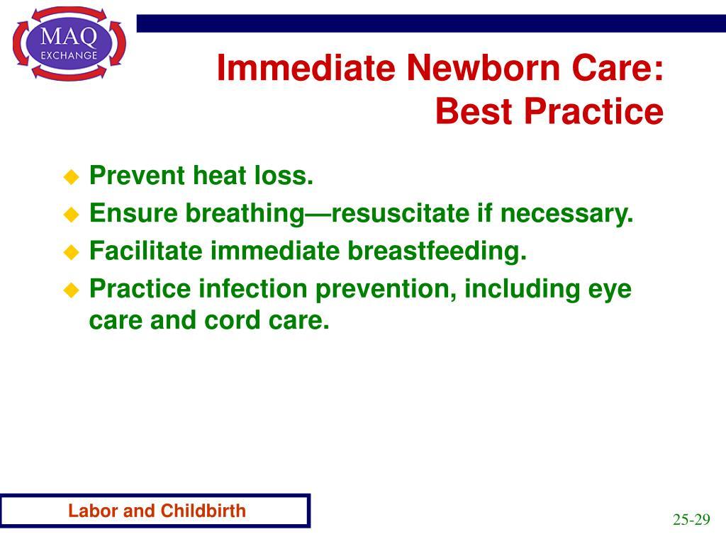 Immediate Newborn Care: