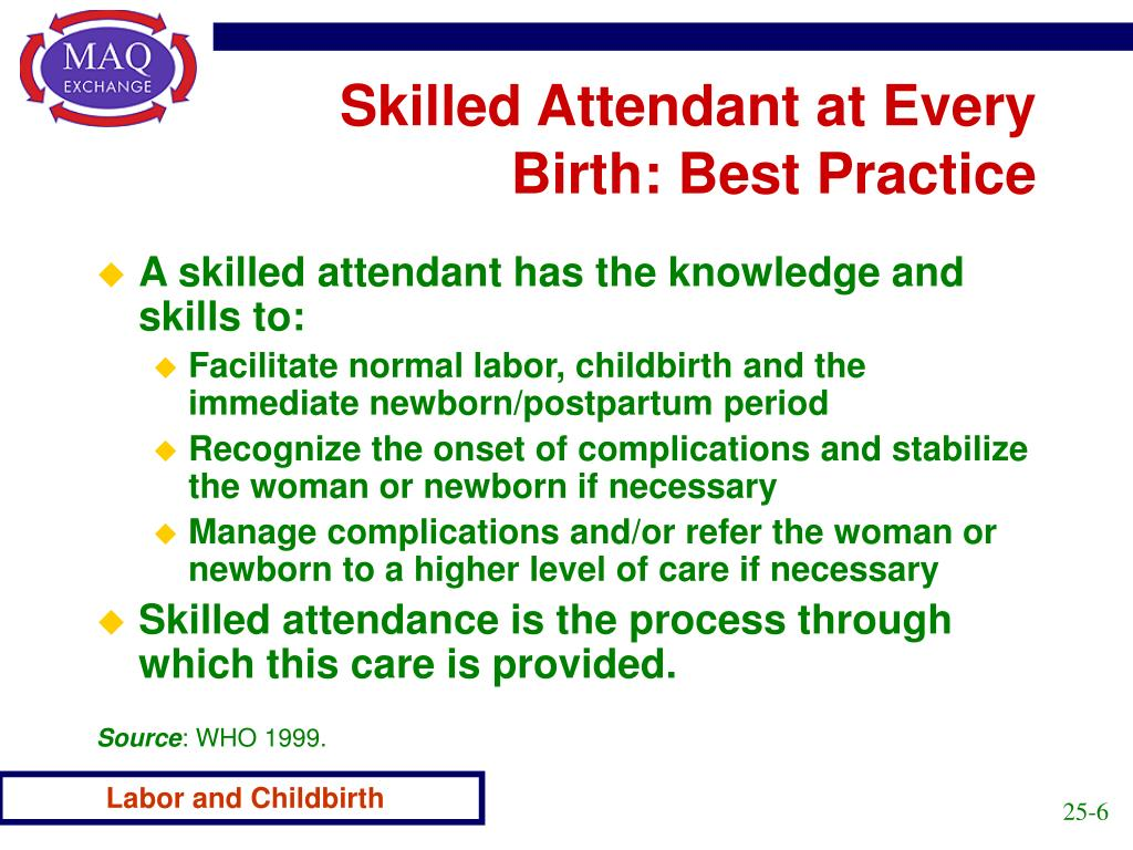 Skilled Attendant at Every Birth: Best Practice
