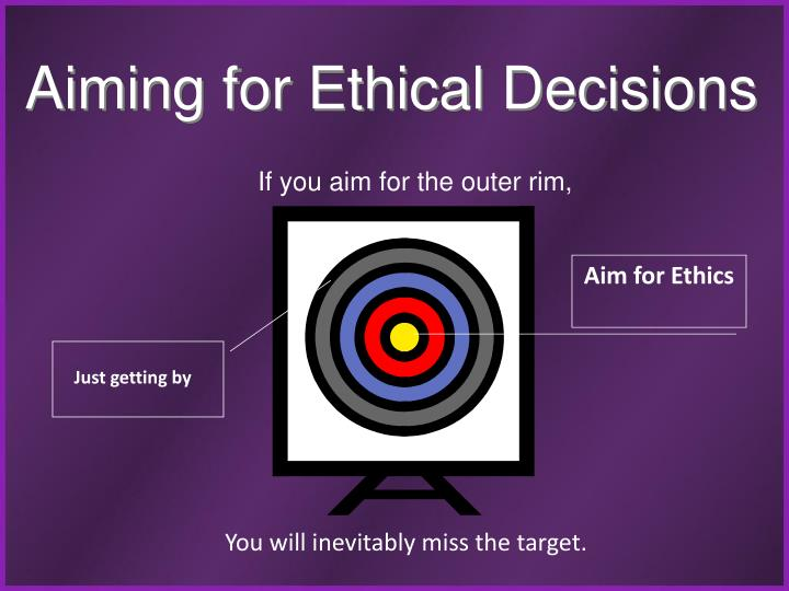 Aiming for Ethical Decisions