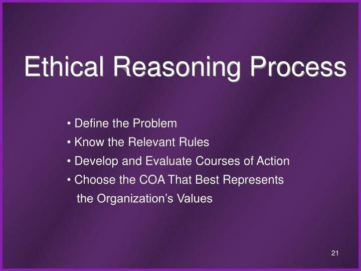 Ethical Reasoning Process