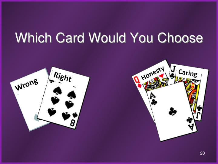Which Card Would You Choose
