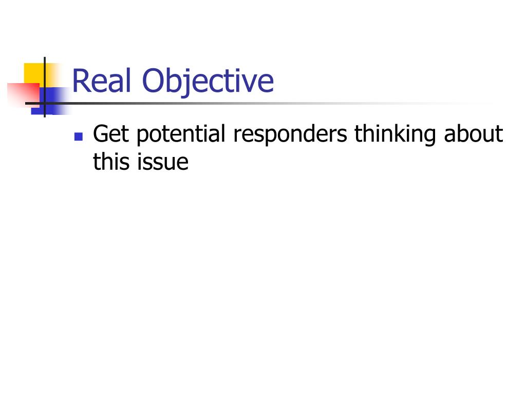 Real Objective