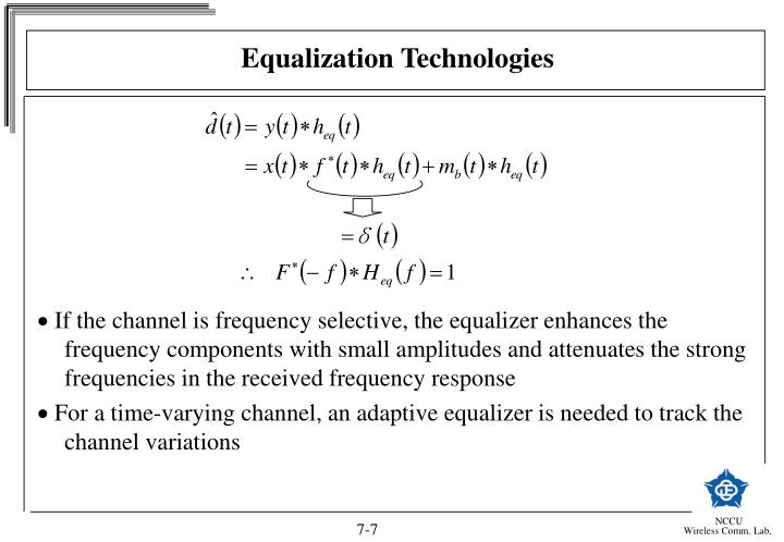 Equalization Technologies