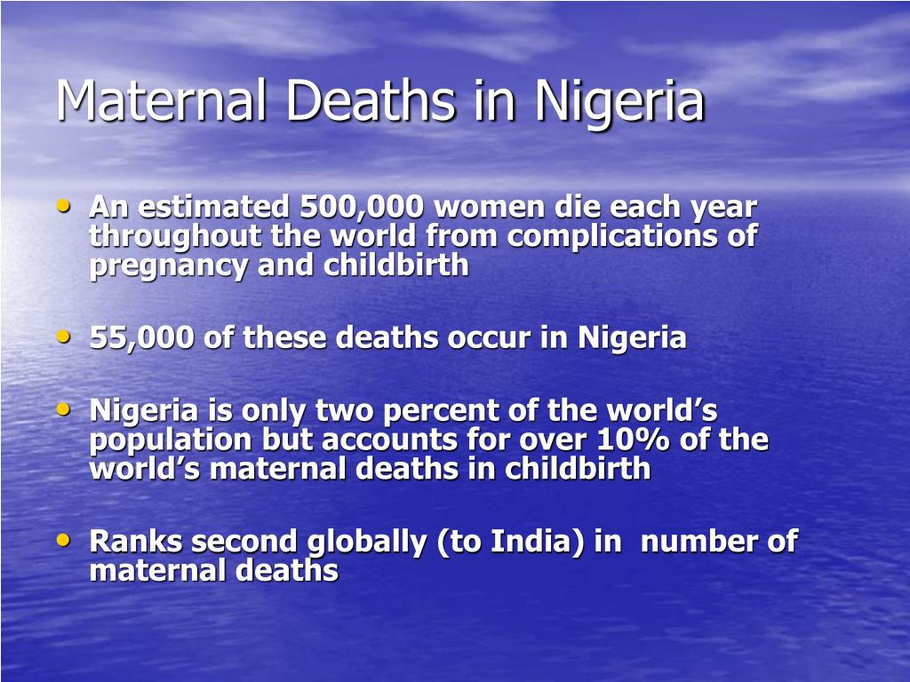 Maternal Deaths in Nigeria