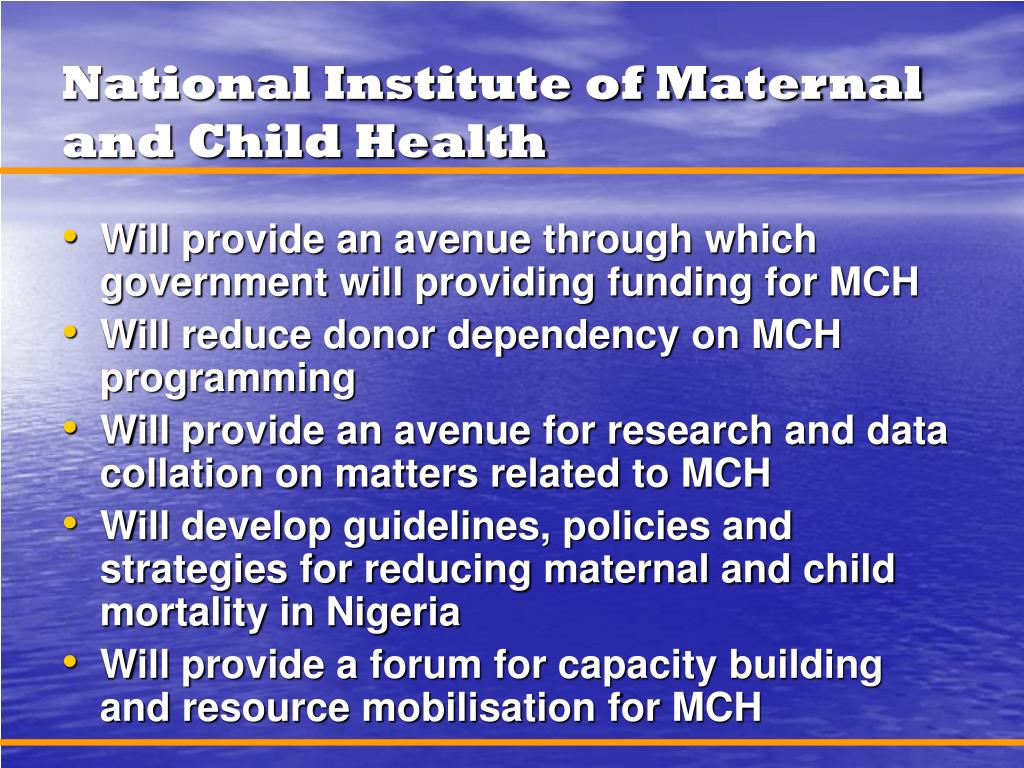 National Institute of Maternal and Child Health