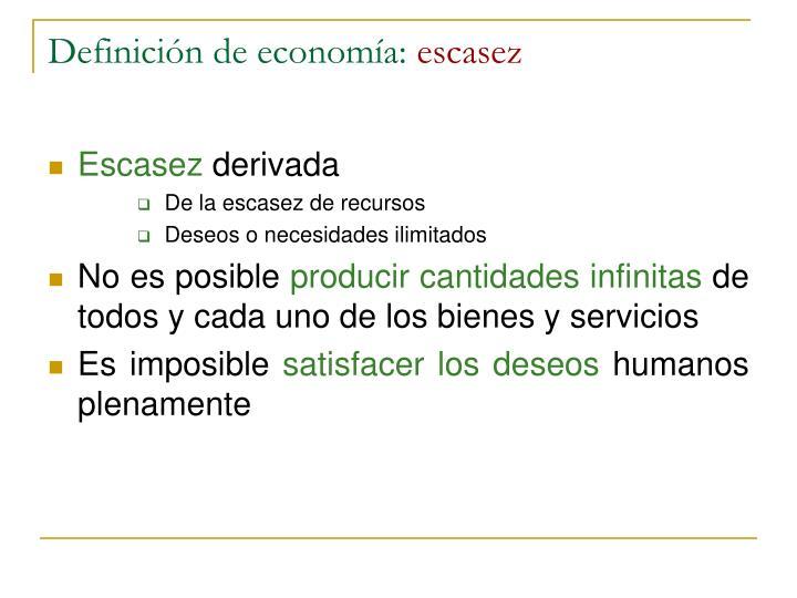 Definición de economía: