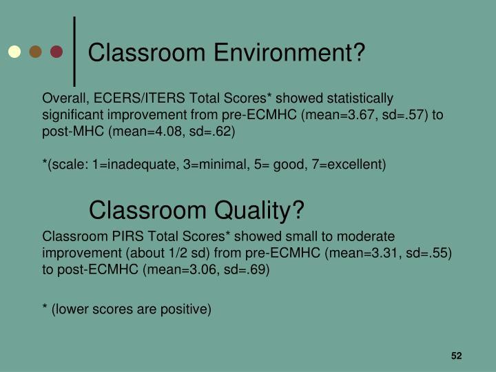 Classroom Environment?