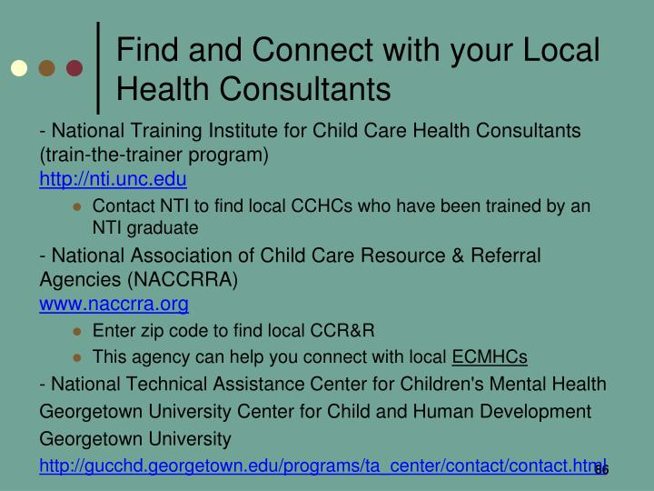 Find and Connect with your Local Health Consultants