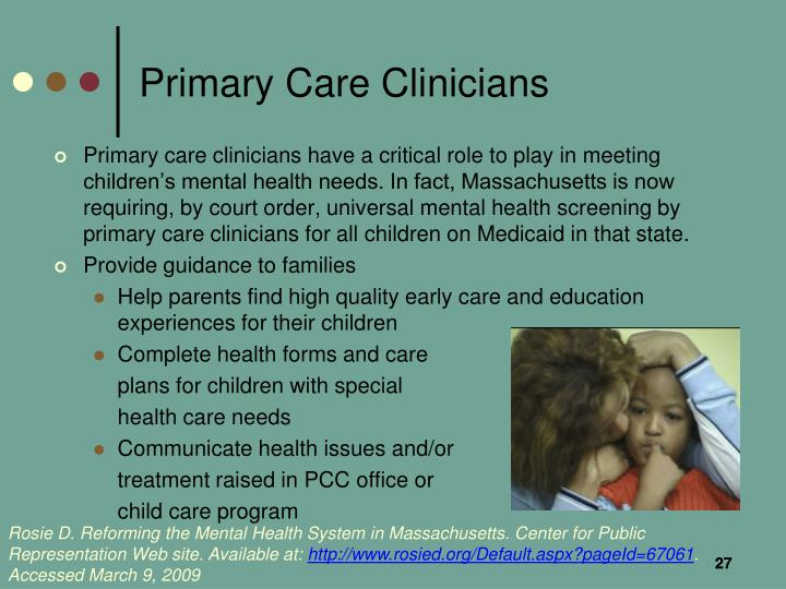 Primary Care Clinicians