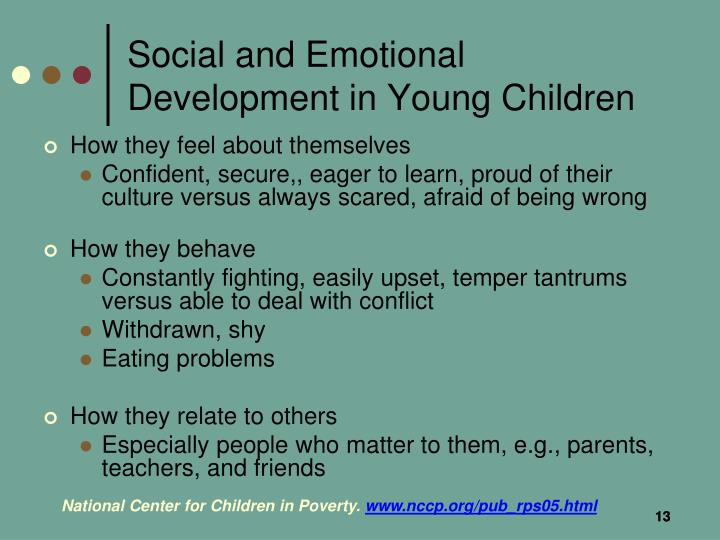 Social and Emotional Development in Young Children