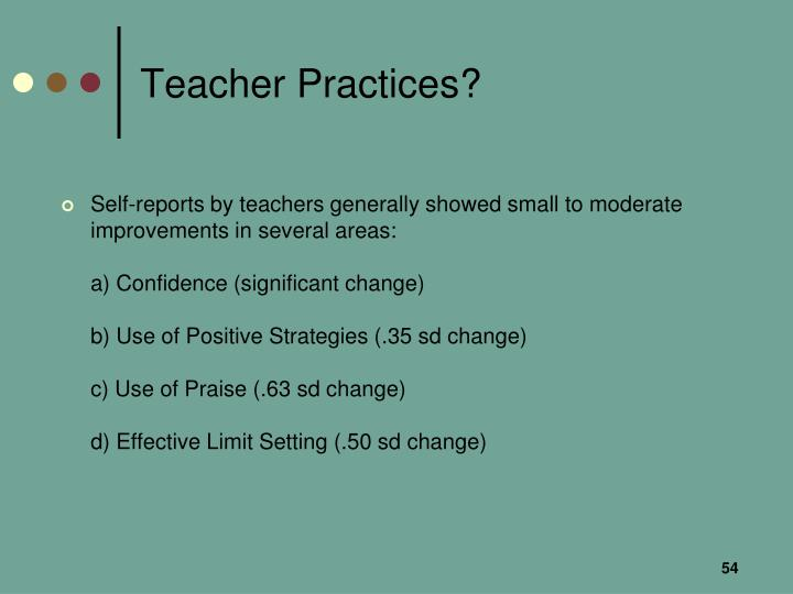 Teacher Practices?