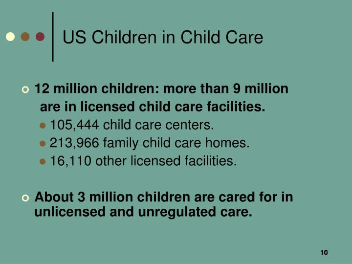 US Children in Child Care