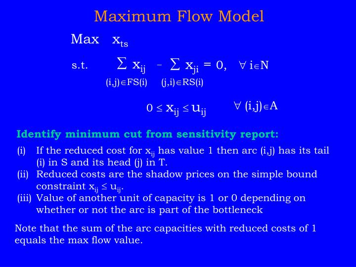Maximum Flow Model