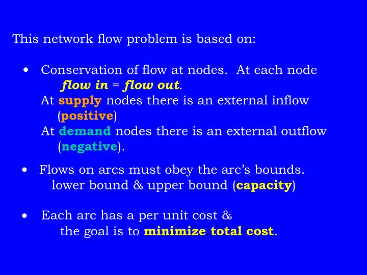 This network flow problem is based on: