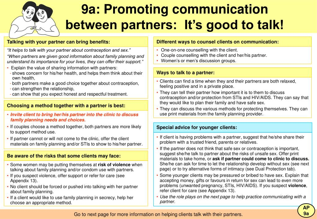 9a: Promoting communication