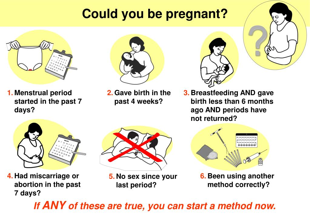 Could you be pregnant?