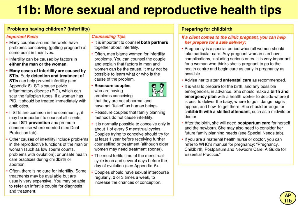 11b: More sexual and reproductive health tips