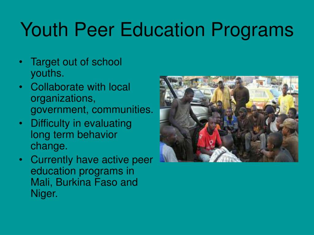 Youth Peer Education Programs