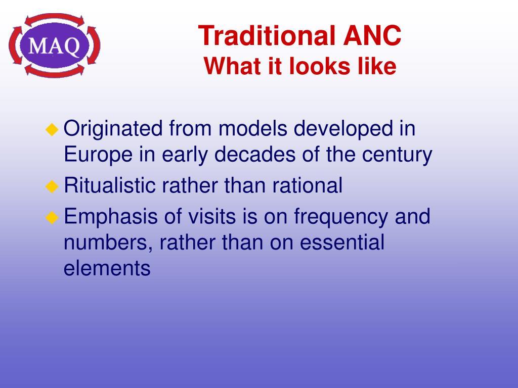 Traditional ANC