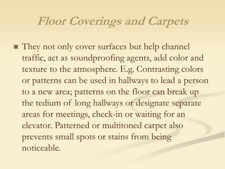 Floor Coverings and Carpets