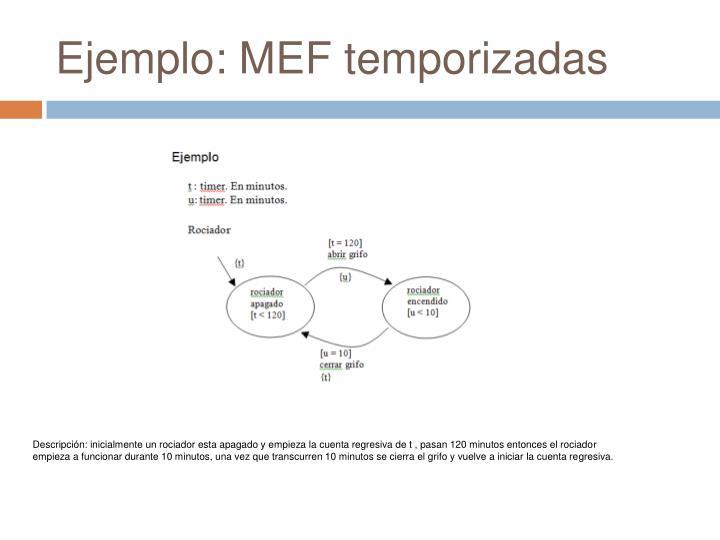 Ejemplo: MEF temporizadas