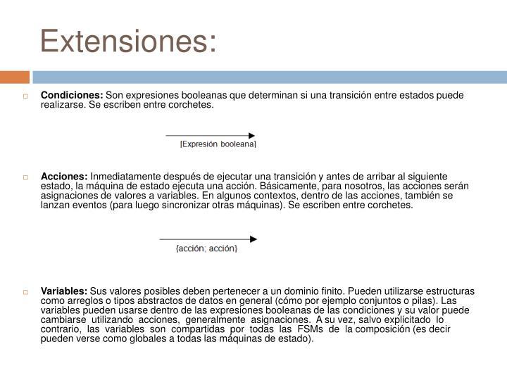 Extensiones: