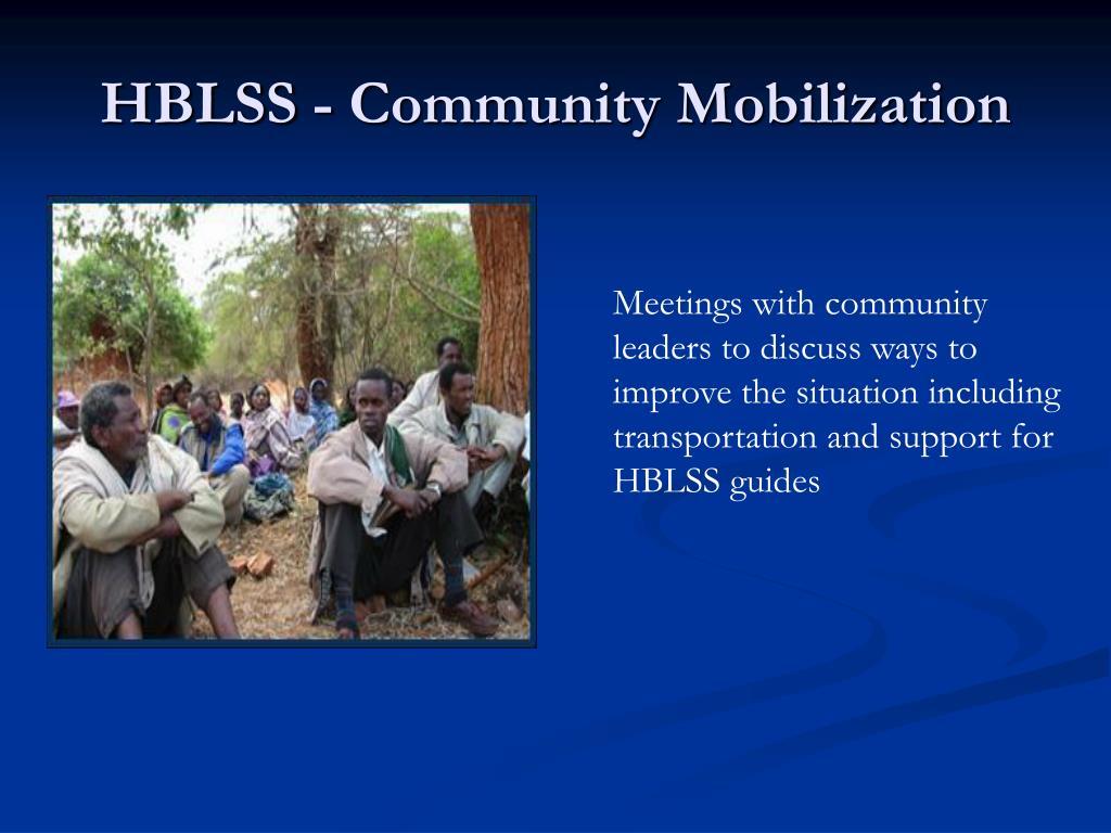 HBLSS - Community Mobilization