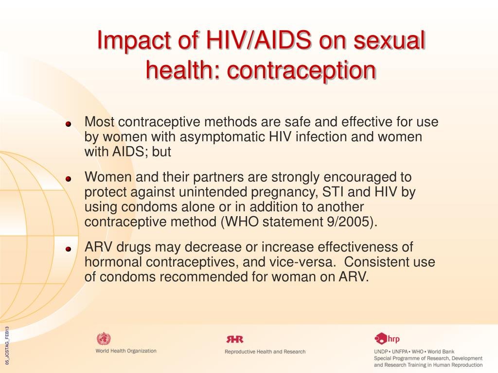 Impact of HIV/AIDS on sexual health: contraception