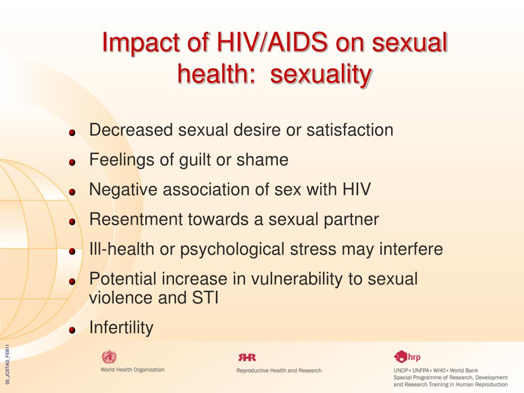 Impact of HIV/AIDS on sexual health:  sexuality