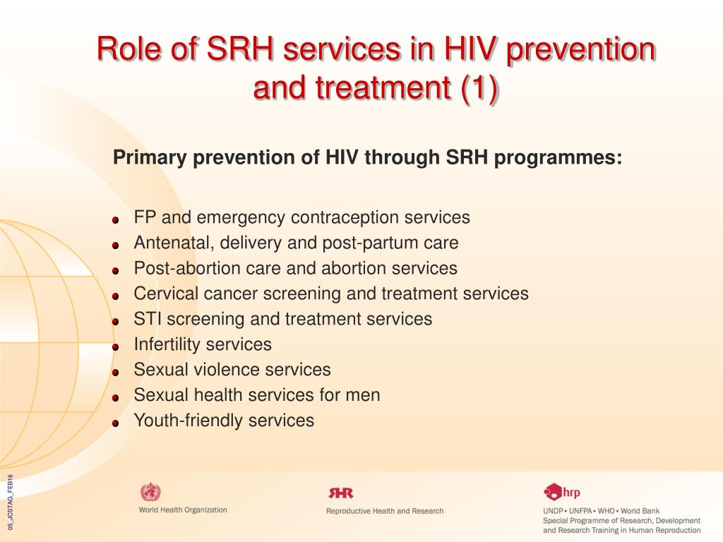 Role of SRH services in HIV prevention and treatment (1)