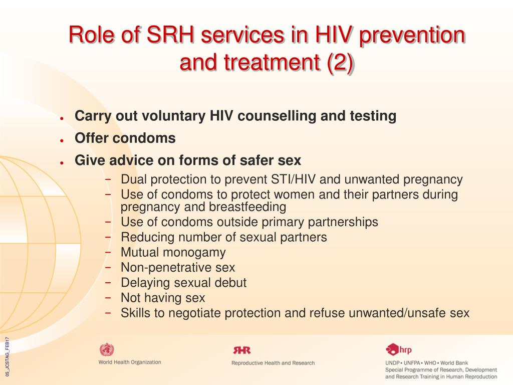 Role of SRH services in HIV prevention and treatment (2)