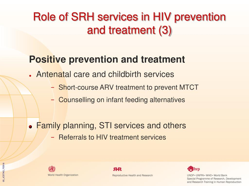 Role of SRH services in HIV prevention and treatment (3)