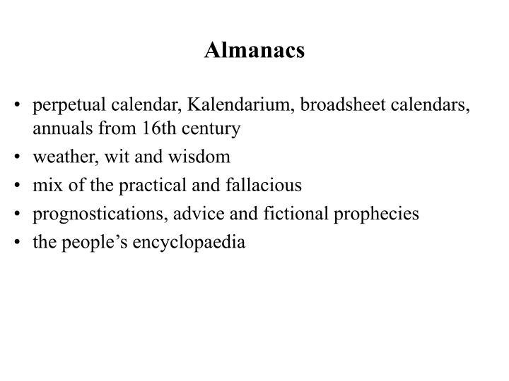 Almanacs