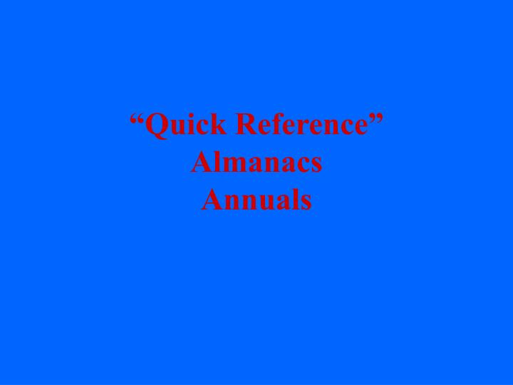 """""""Quick Reference"""""""